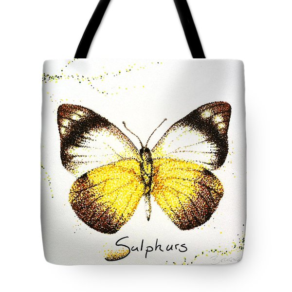 Sulphurs - Butterfly Tote Bag by Katharina Filus