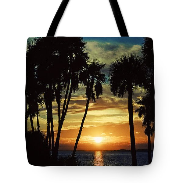 Tote Bag featuring the photograph Sultry Sunset by Janie Johnson