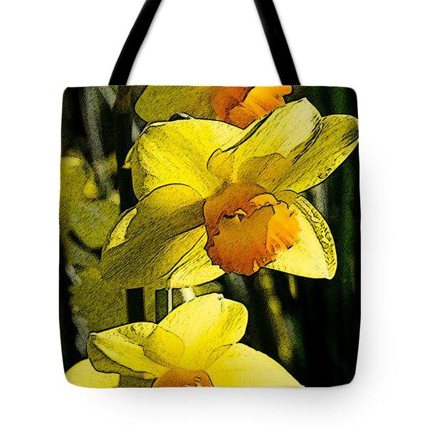 Sumi-e In Yellow Tote Bag
