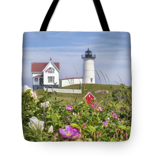 Summer At Nubble Light Tote Bag