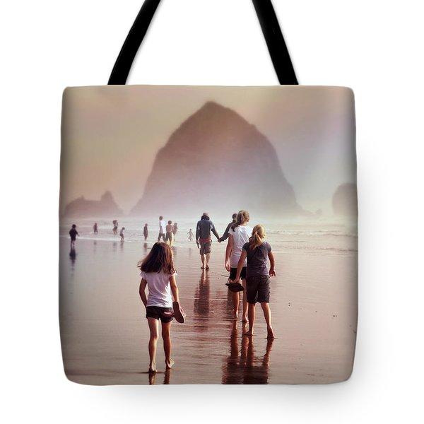 Summer At The Seashore  Tote Bag by Micki Findlay