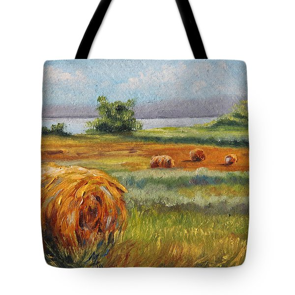 Summer Bales Tote Bag by Meaghan Troup