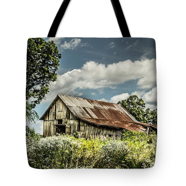 Tote Bag featuring the photograph Summer Barn by Debbie Green