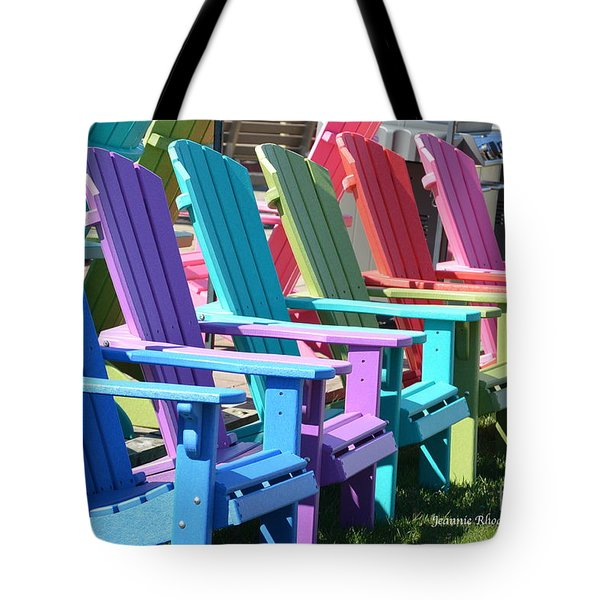 Summer Beach Chairs Tote Bag