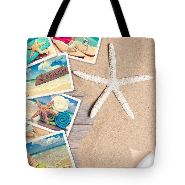 Summer Beach Postcards Tote Bag by Amanda Elwell