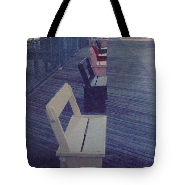 Summer Benches Seaside Heights Nj Tote Bag by Joann Renner