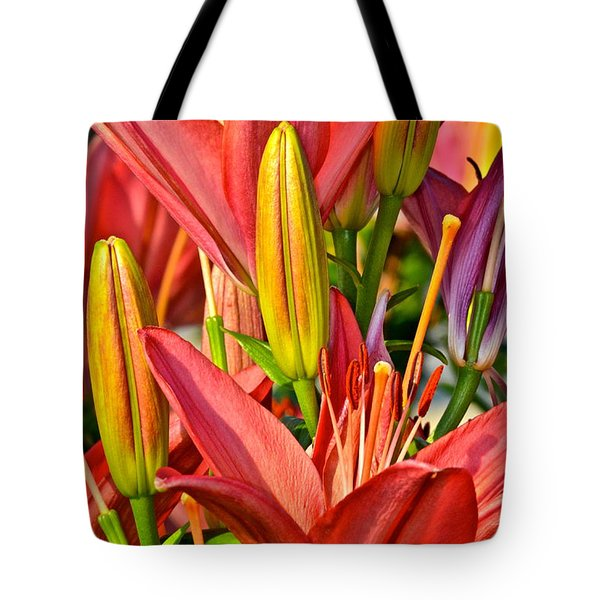 Summer Bouquet Tote Bag by Frozen in Time Fine Art Photography