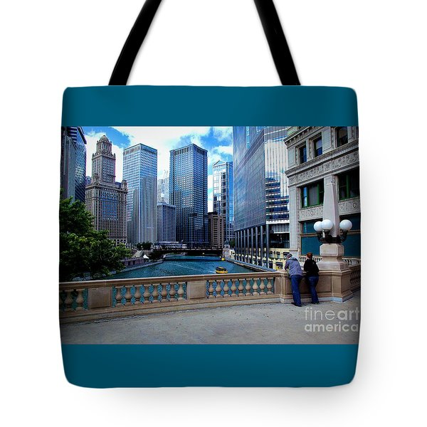 Summer Breeze On The Chicago River - Color Tote Bag