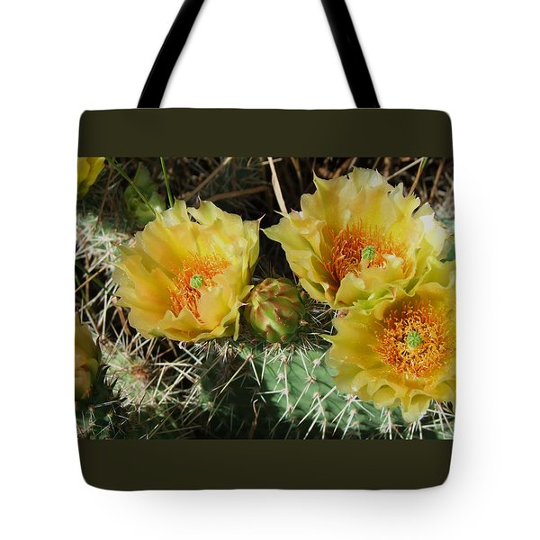 Summer Cactus Blooms Tote Bag
