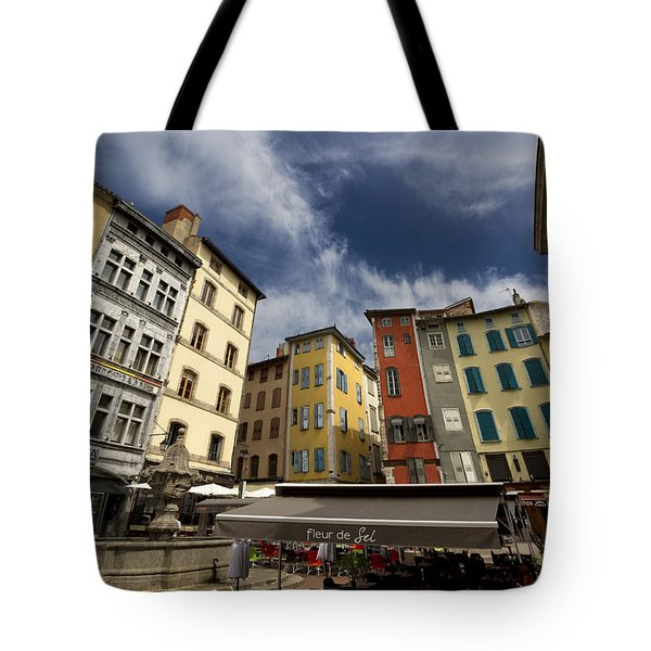 Summer Cafe Tote Bag by Debra and Dave Vanderlaan