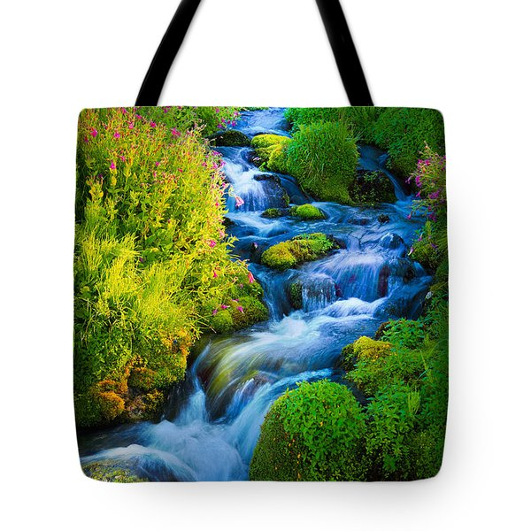 Summer Cascade Tote Bag