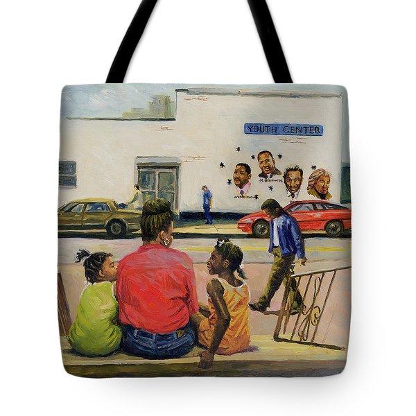 Summer City Stoop Tote Bag