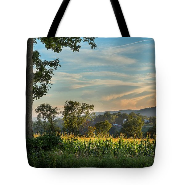 Summer Corn Square Tote Bag