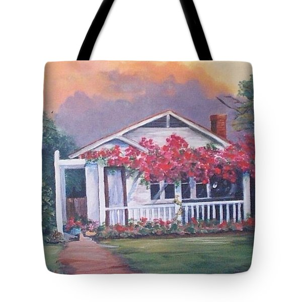 Summer Cottage Tote Bag