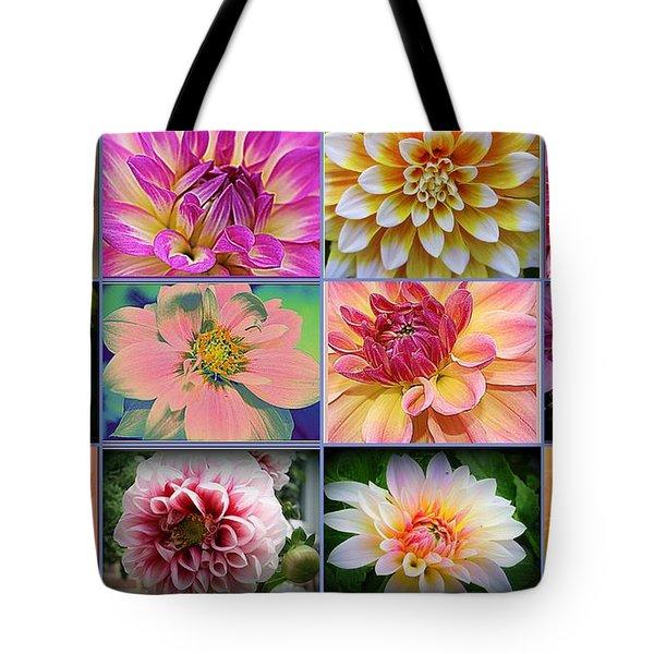 Summer Time Dahlias Tote Bag