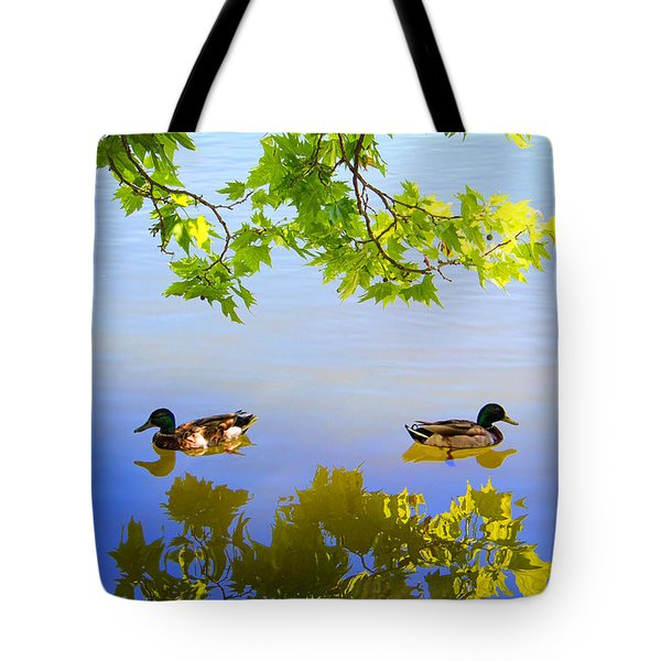 Summer Day On The Lake Tote Bag by Mariola Bitner