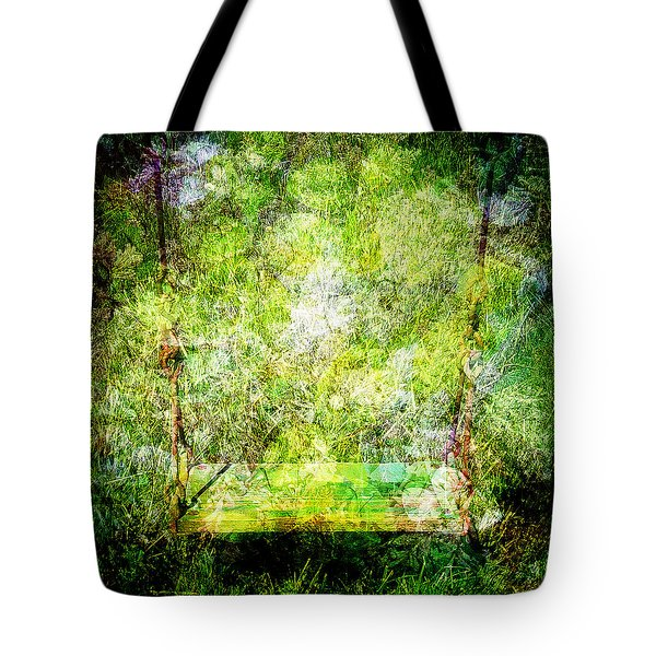 Tote Bag featuring the mixed media Summer Days Of Yore #1 by Sandy MacGowan
