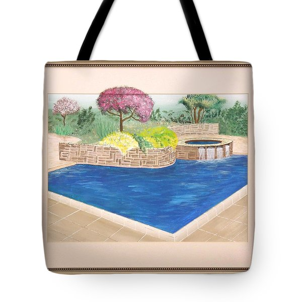 Tote Bag featuring the painting Summer Days by Ron Davidson