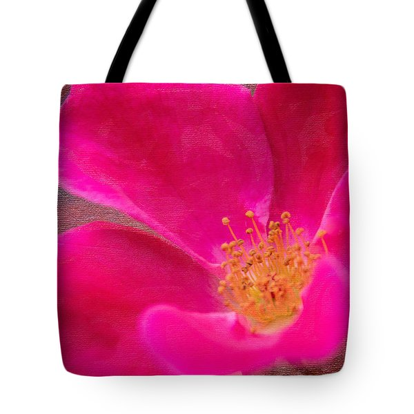 Summer Delight My Pink Rose Tote Bag by Denyse Duhaime
