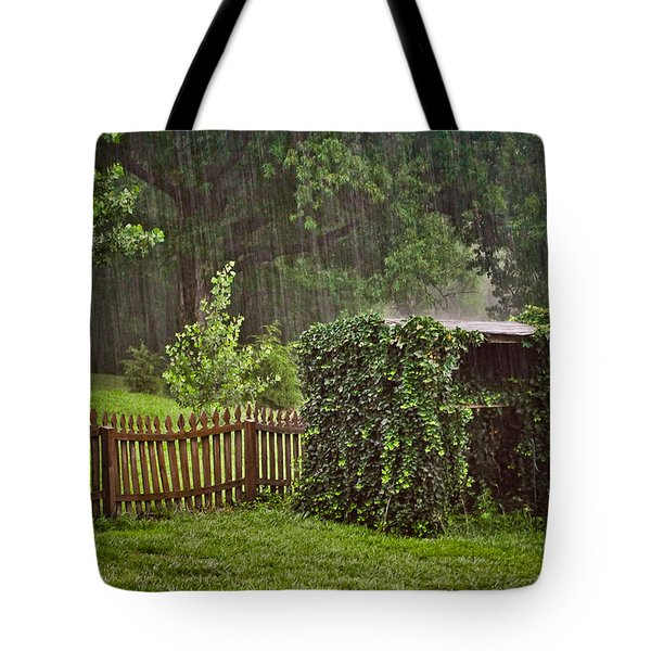 Tote Bag featuring the photograph Summer Downpour by Greg Jackson