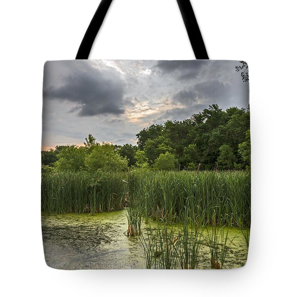 Summer Evening Clouds Tote Bag