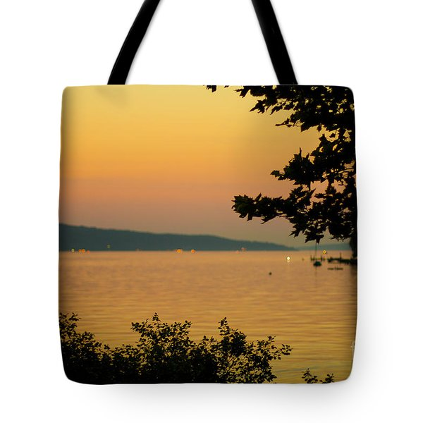 Summer Evening On Cayuga Lake Tote Bag