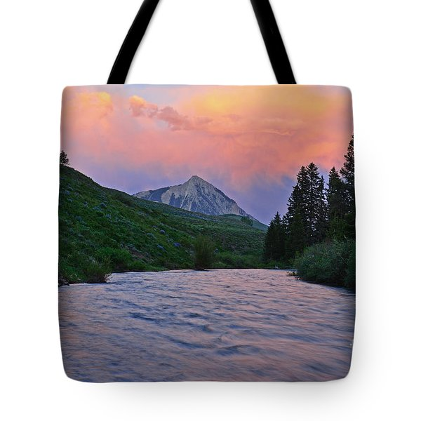 Summer Evening Reflections Tote Bag