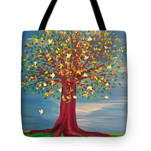 Summer Fantasy Tree Tote Bag
