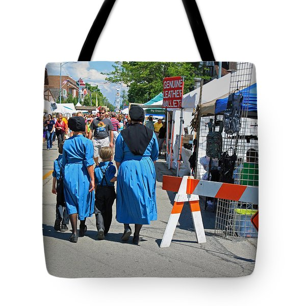 Summer Festival In Berne Indiana II Tote Bag by Suzanne Gaff