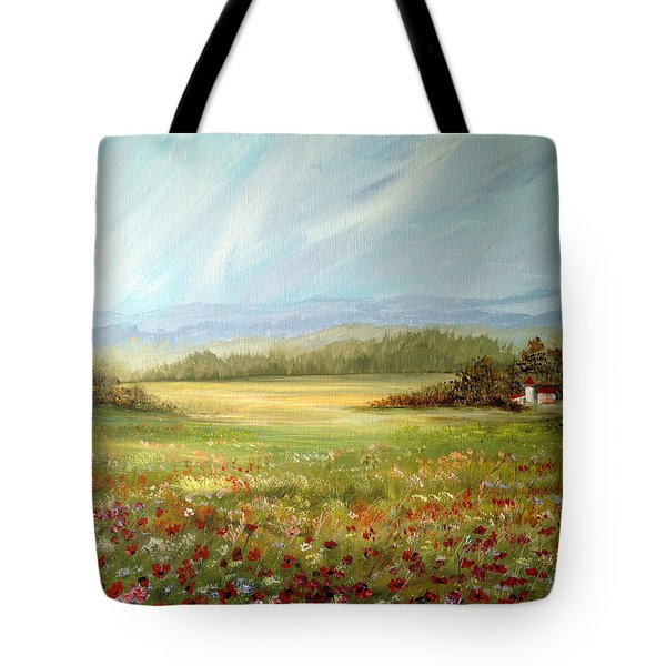 Summer Field At The Farm Tote Bag