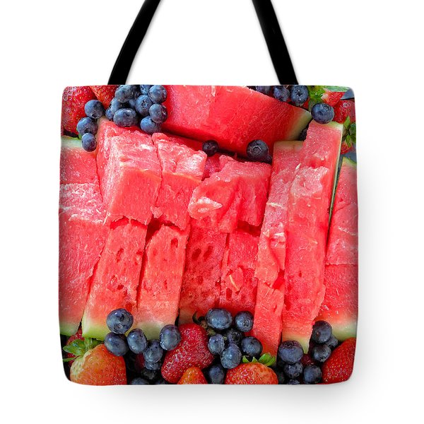 Summer Fruit Tote Bag by Sami Martin
