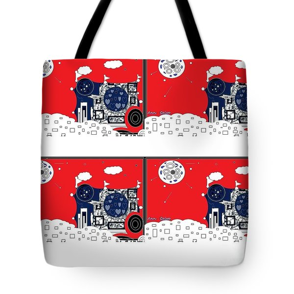 Tote Bag featuring the digital art Summer Fun by Ann Calvo