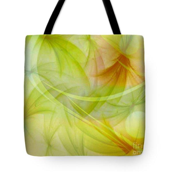 Summer Garden Abstract Tote Bag