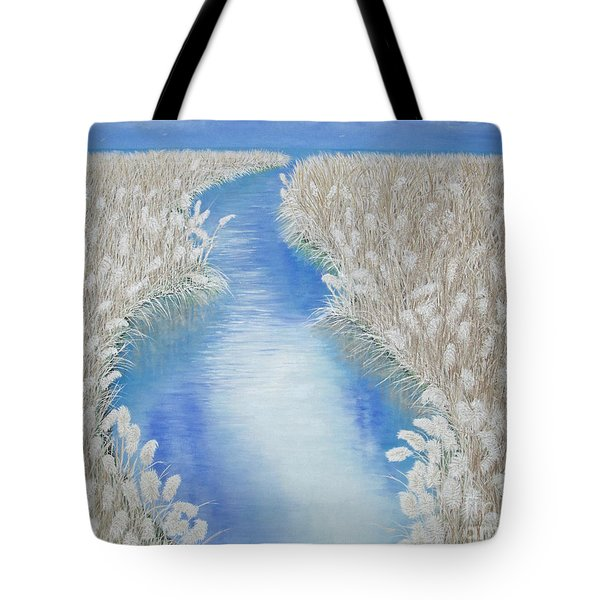 Tote Bag featuring the painting Summer Grass Plumes by Cindy Lee Longhini
