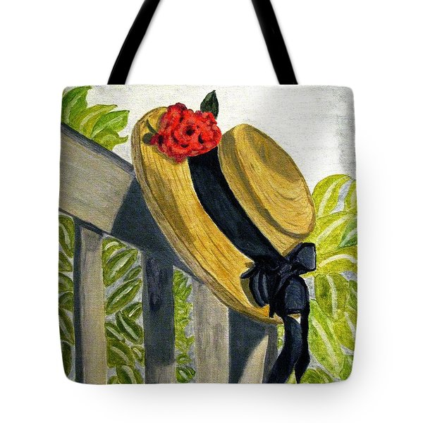 Summer Hat Tote Bag
