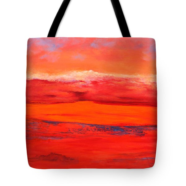 Tote Bag featuring the painting Summer Heat 2 by M Diane Bonaparte