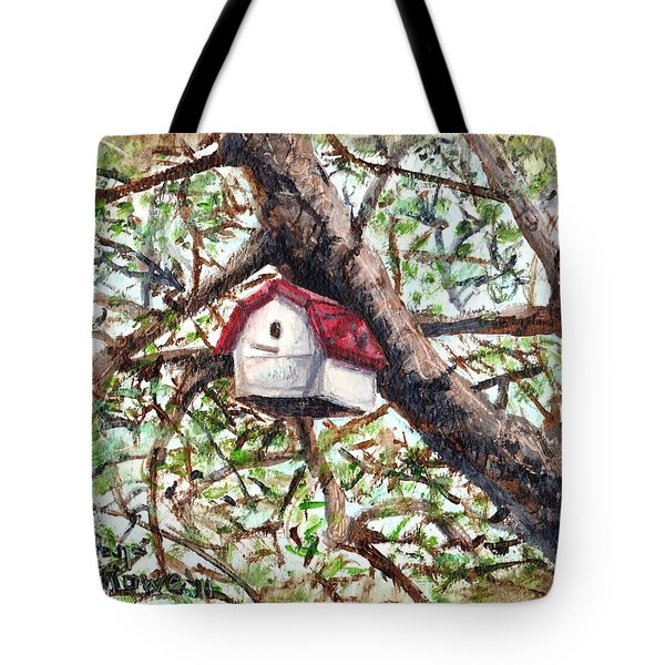Tote Bag featuring the painting Summer Home by Shana Rowe Jackson