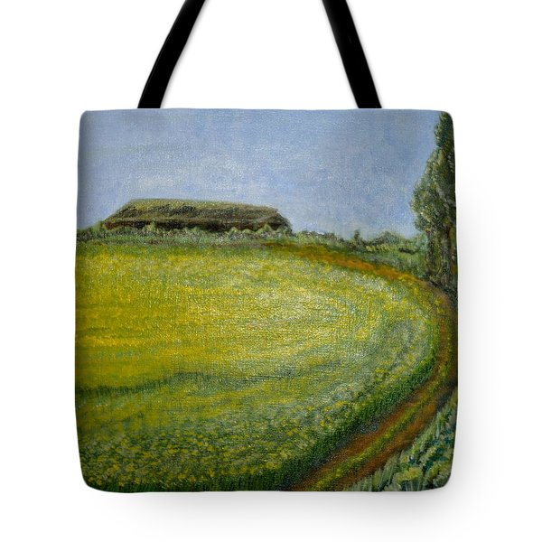 Summer In Canola Field Tote Bag