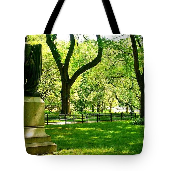 Summer In Central Park Manhattan Tote Bag