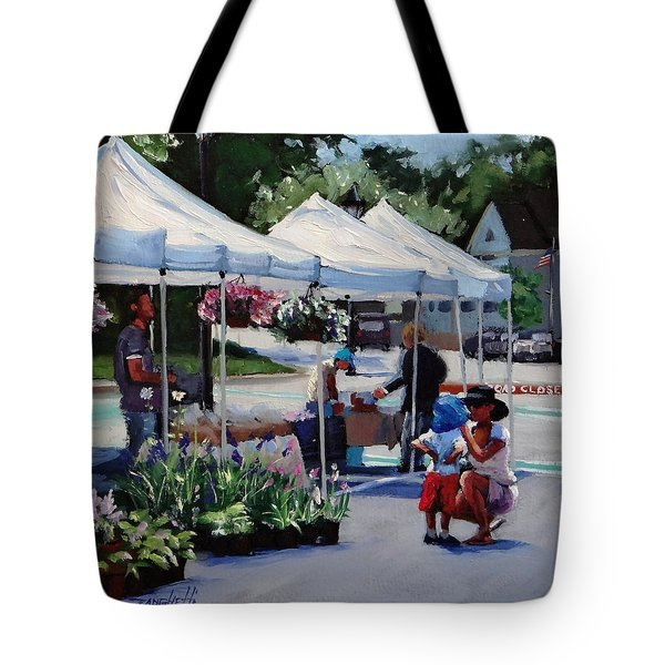 Summer In Hingham Two Tote Bag by Laura Lee Zanghetti