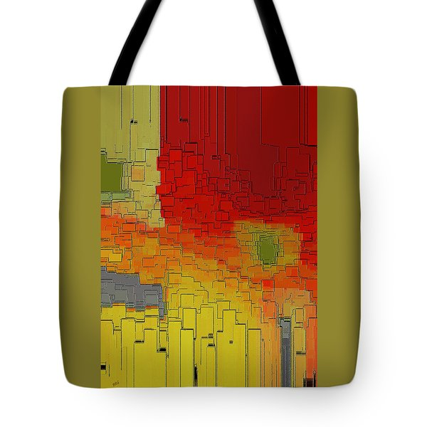 Summer In The Big City - Fantasy Cityscape Tote Bag by Ben and Raisa Gertsberg