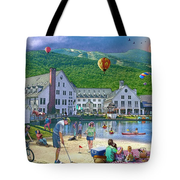 Summer In Waterville Valley Tote Bag