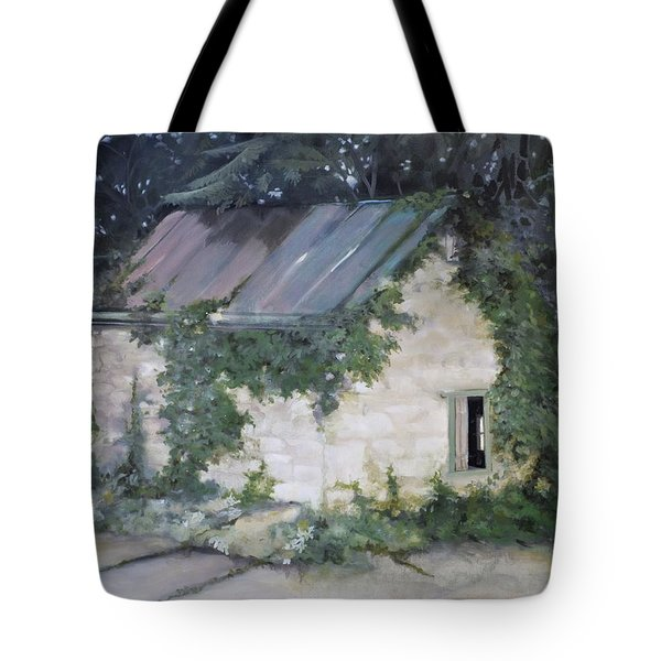 Tote Bag featuring the painting Summer Kitchen by Rebecca Matthews
