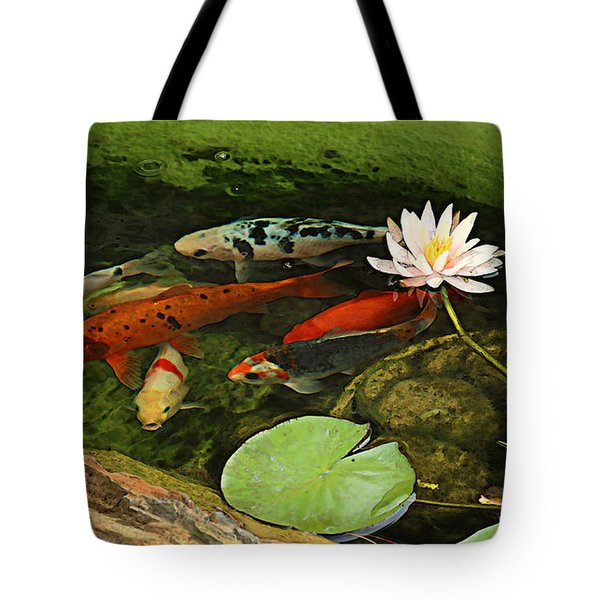 Summer Koi And Lilly Tote Bag