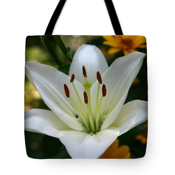 Tote Bag featuring the photograph Summer Lily by Denyse Duhaime