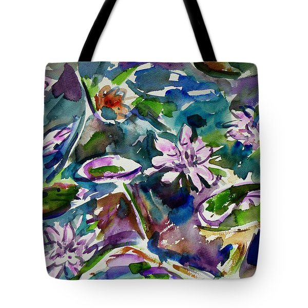 Summer Lily Pond Tote Bag by Xueling Zou