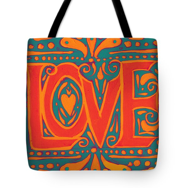 Tote Bag featuring the painting Summer Love  by Nada Meeks