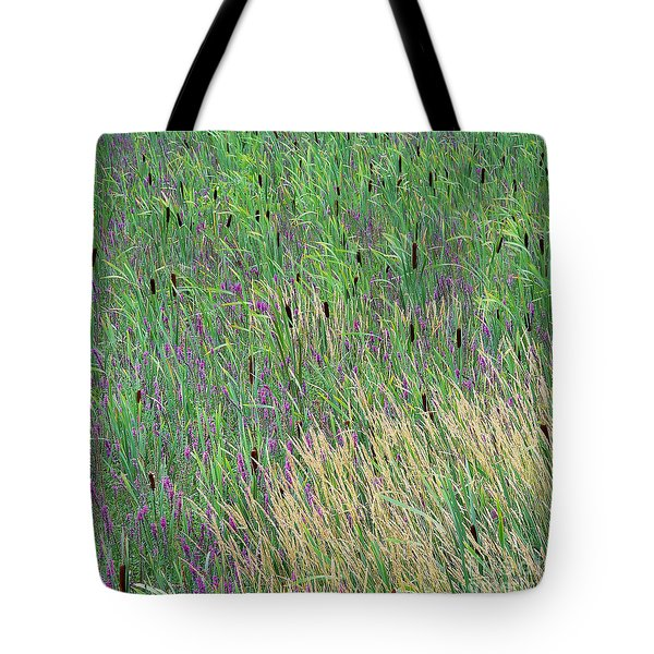 Tote Bag featuring the photograph Summer Marsh by Alan L Graham