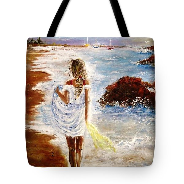 Tote Bag featuring the painting Summer Memories by Cristina Mihailescu