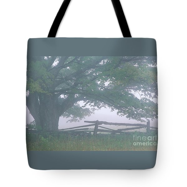 Tote Bag featuring the photograph Summer Morning Fog by Alan L Graham